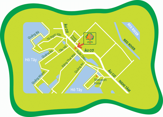 Centre Acacia Bilingual Nursery, School and International Kindergarten Hanoi, Vietnam location map